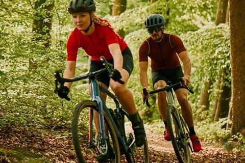 two gravel bike riders