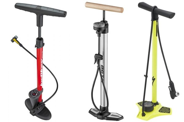 three floor pumps