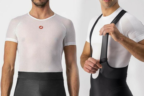 waist band or bib straps for cycling