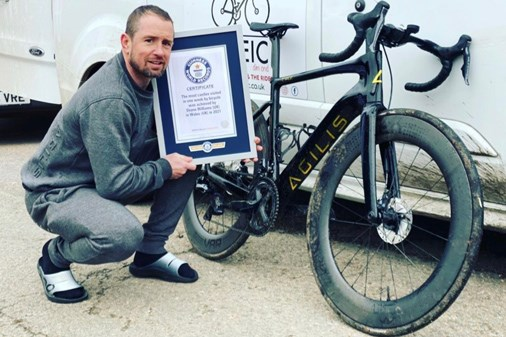 Shane Williams after his successful Guinness World Record attempt