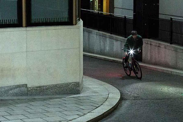 Commuter with front bike light