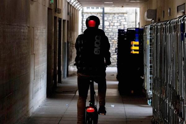 rear bike light with helmet