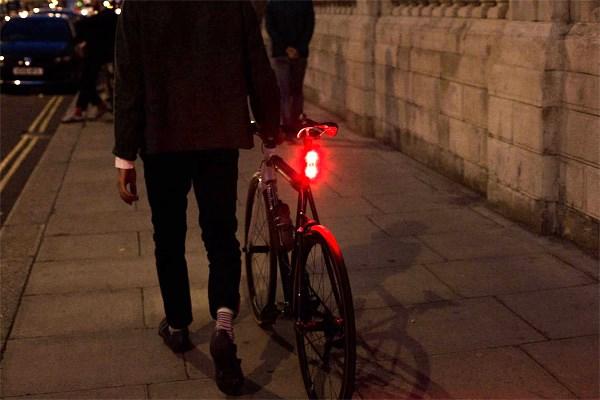 A bike with rear bike light