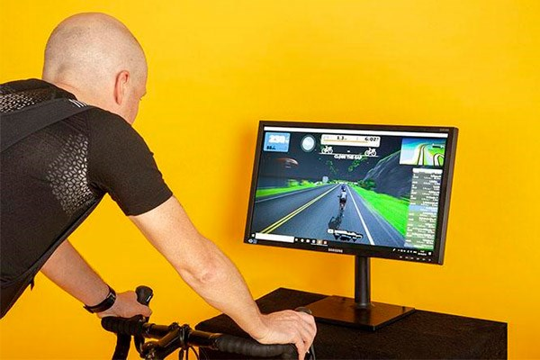 Riding on Zwift