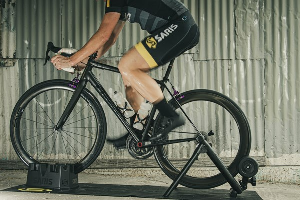 riding a classic turbo trainer
