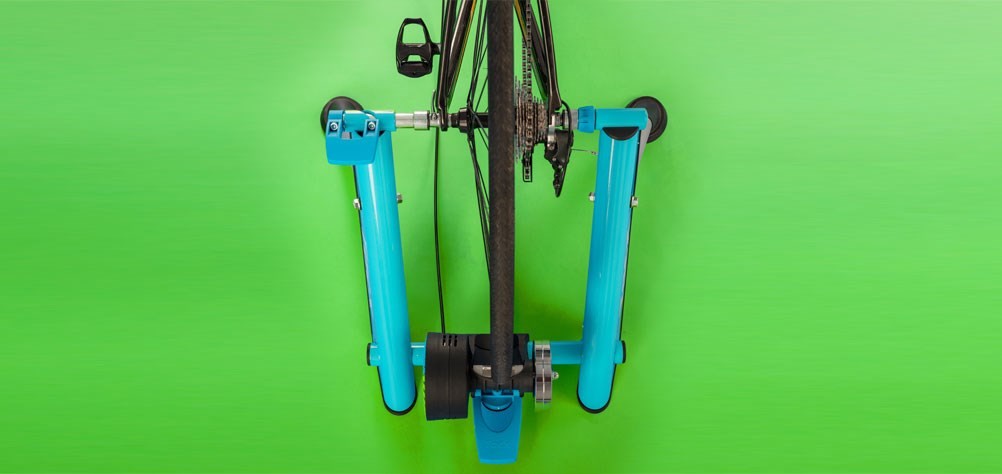 Top down view of turbo trainer