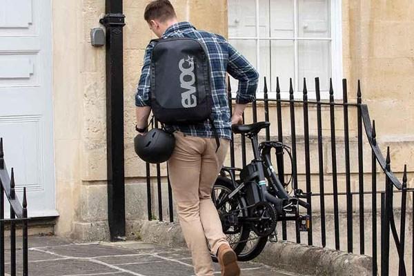 Carrying an electric folding bike