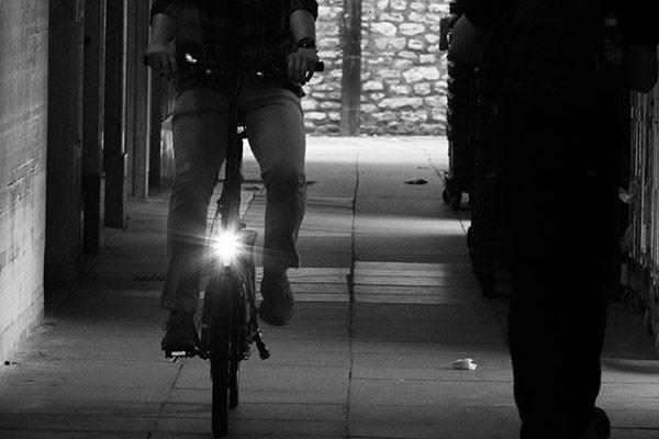 electric folding bike with bike lights