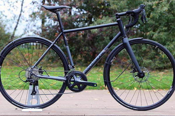 Side profile of Boardman road bike