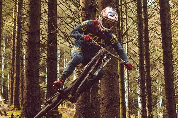 Loic Bruni wearing fox dh pants and top