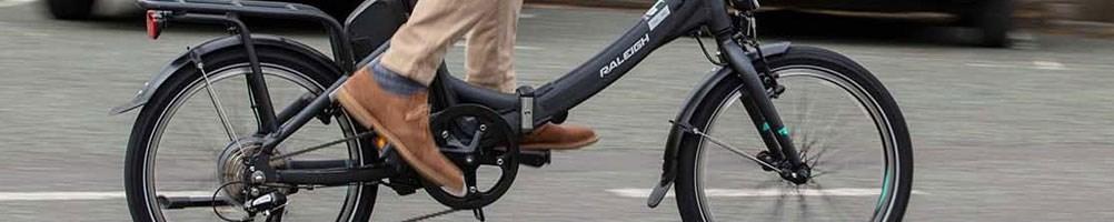 Riding an electric folding bike