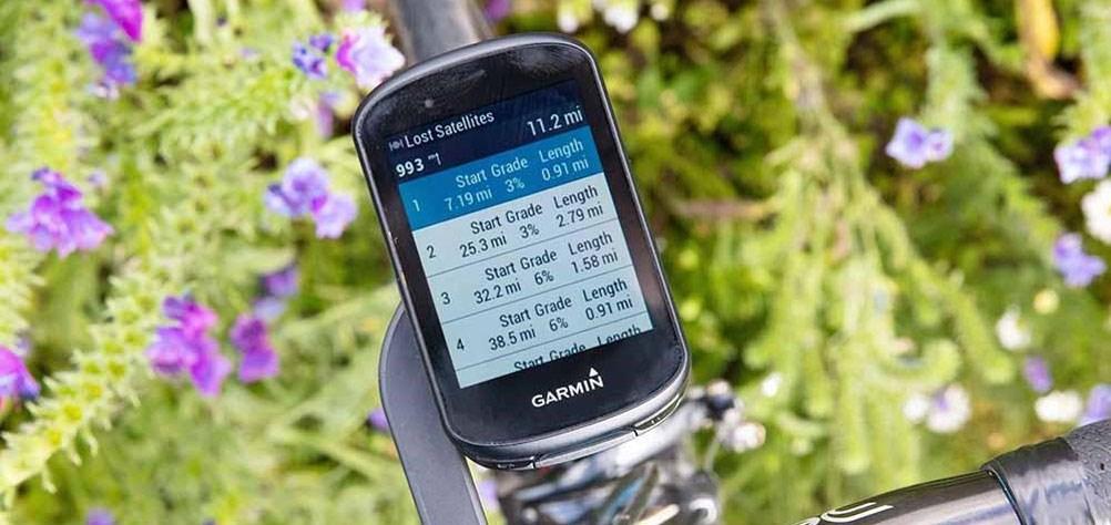 Garmin Edge satellite display