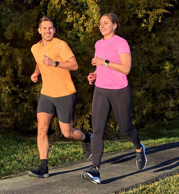 The Forerunner being used for running, but can also be used for a range of sports
