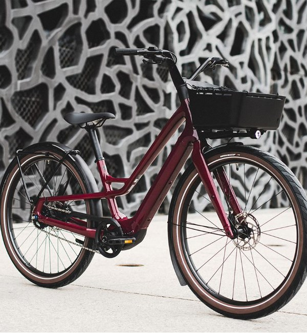 Como SL integrated front rack with basket
