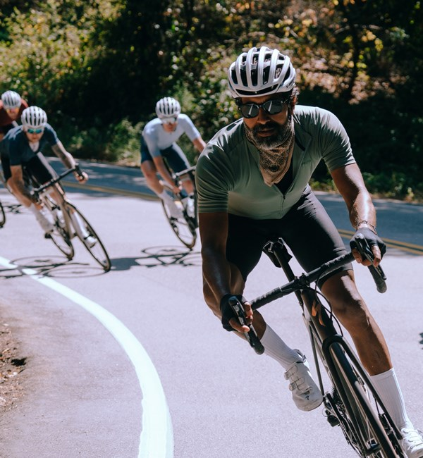 Rides descending on Specialized Aethos road bikes