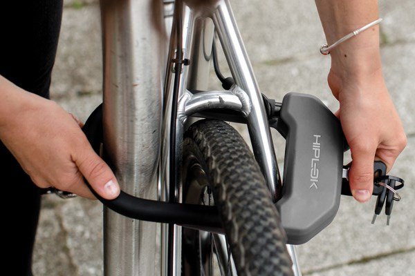 locking a bike with a D lock
