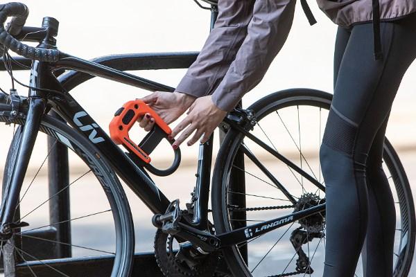 bike lock on bike
