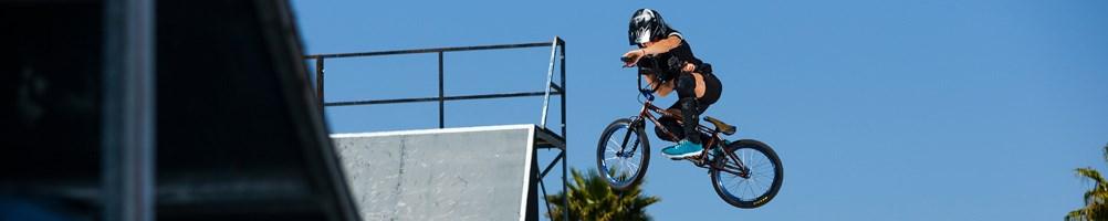 bmx rider getting air