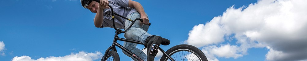 BMX rider mid-air