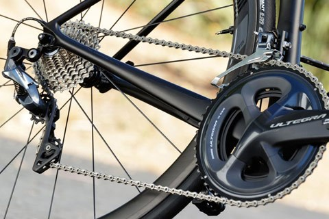 Bike rear wheel and chain