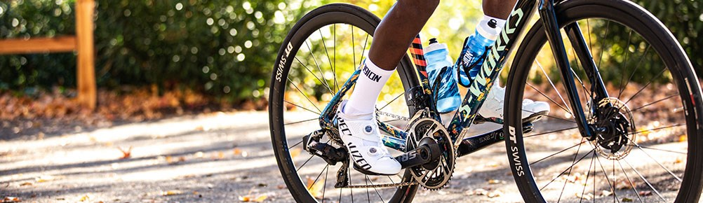 road cyclist with s-works shoes