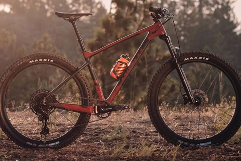 Side profile of mountain bike