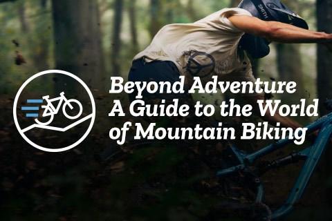 Mountain biker riding a berm