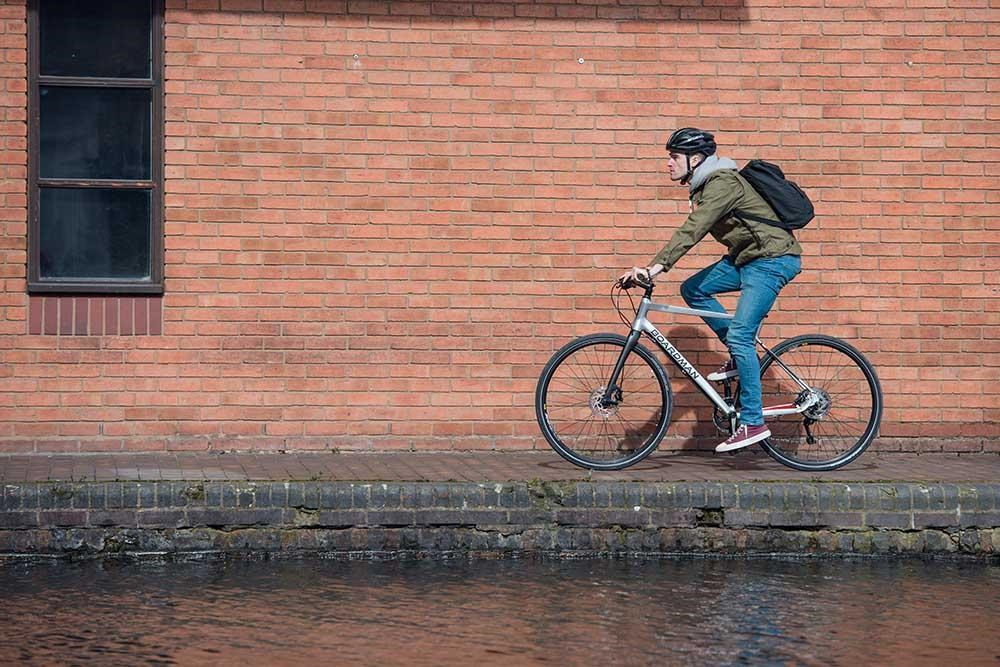 cycling by a canal