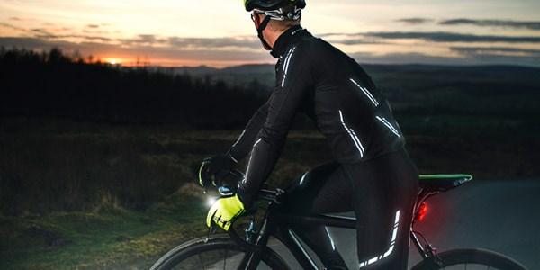 A road cyclist wearing bib tights