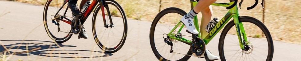 Two cyclist riding Giant Propel aero road bikes
