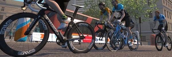 A screenshot of Zwift gameplay