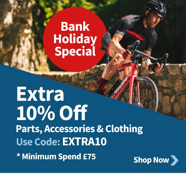 Extra 10% Off Parts, Clothing & Accessories