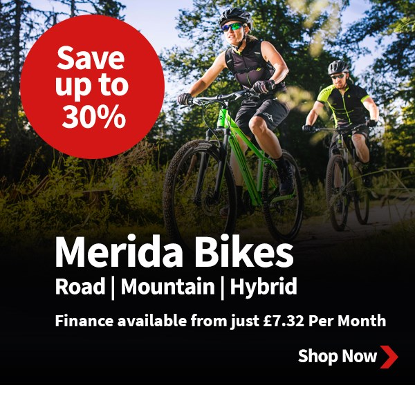Save up to 30% off Merida Bikes