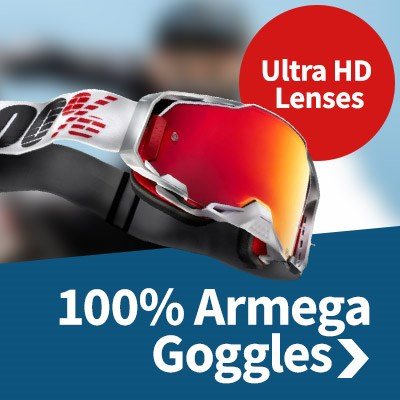 100% Armega Goggles - Uses 100%'s Ultra HD lens technology
