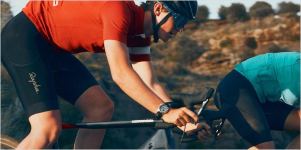 A cyclist riding over rough terrain on the Topstone Carbon 2020