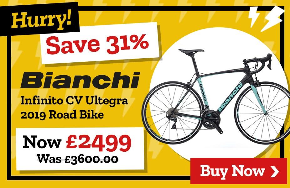 Save 31% on Bianchi Infinito CV Ultegra 2019 Road Bike