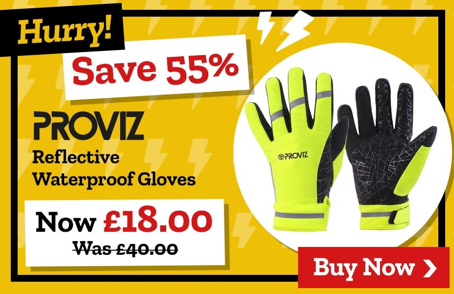 Save 55% on Proviz Reflective Waterproof Gloves