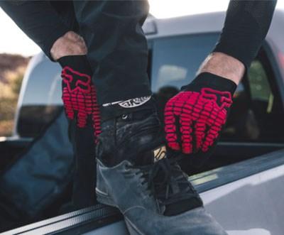 Brett wearing Fox Defend Kevlar D30 Gloves