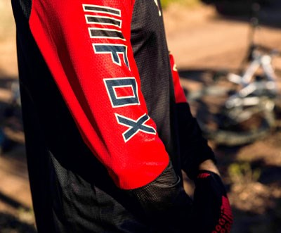 Brett wearing the Fox Defend Long Sleeve Jersey