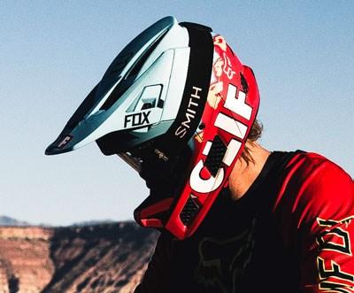 Brett wearing Rampage Pro Carbon Helmet
