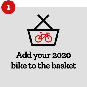 Step 1: Add 2020 Bike to Basket