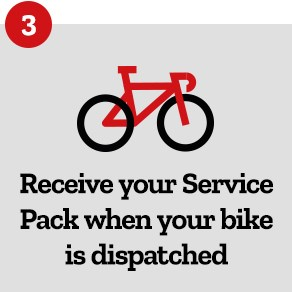 Step 3: Receive Your Service Pack When Your Bike is Dispatched