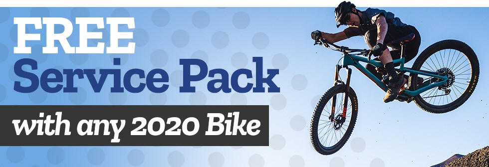 FREE Service Pack with any 2020 Bike