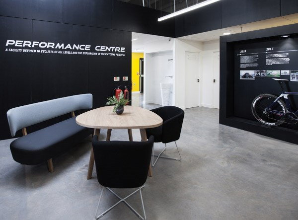 Reception area of the Performance Centre