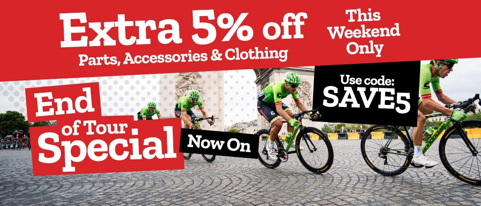End of Tour Offer - Extra 5% off Parts, Accessories & Clothing