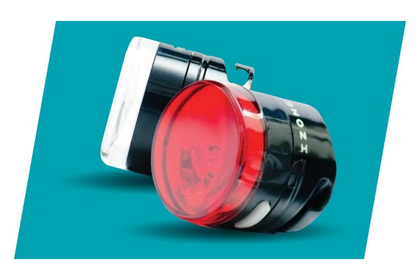 Izone Arc front bike light & Blackburn Central rear bike light