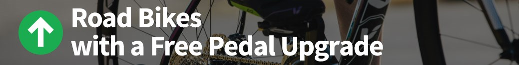 Road Bikes with a Free Pedal Upgrade