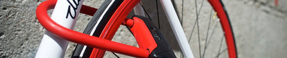 Abus D lock on bike frame