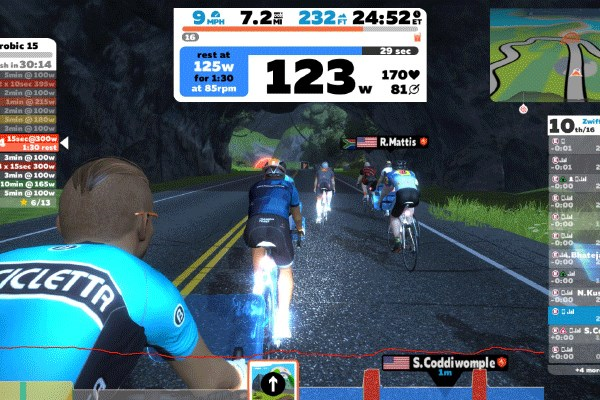 Zwift training environment