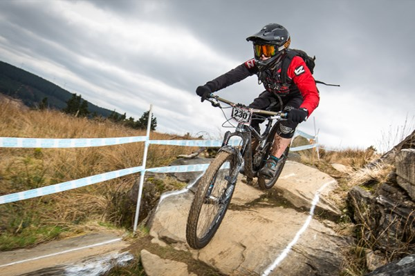 Team Tredz rider Lindsay takes on the Welsh Gravity Enduro in Glyncorrwg, Afan Argoed